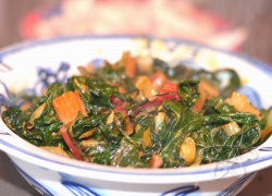 Coconut Curry Swiss Chard