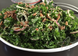 Kale Fig Salad with Lemon Avocado Dressing